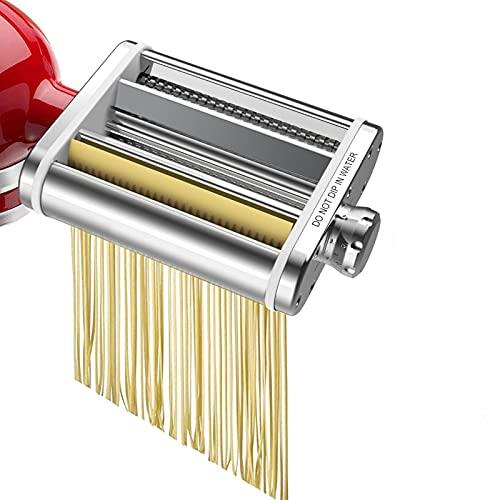Cirdora Nudelroller & Schneide-Aufsatz, 3-in-1, Nudelaufsatz Für KitchenAid-Standmixer. Inklusive Nudelblattroller, Spaghettischneider, Fettuccine-SchneiderCutter
