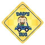 KREEPO Dad's Taxi Safty Windows Car Sticker (Pack of 2) CV-120