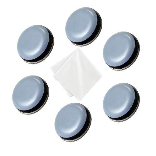 Selbstklebend Gleitbrett Kompatibel-mit Thermomix TM5 TM6 TM31-6+1 Set Teflongleiter Rutschbrett Roll Slider Zubehör für TM5 TM6 TM31 Küchenmaschine (∅ 2cm) Runden