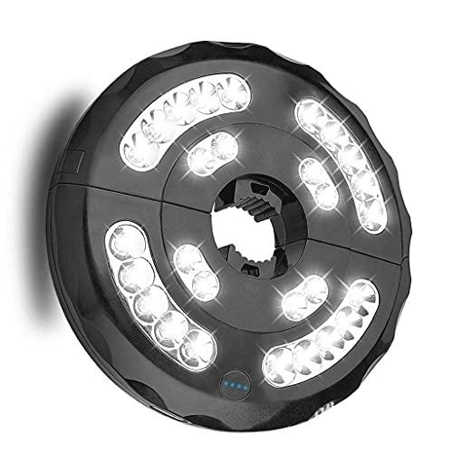 kdjsic 3 modo de iluminación inalámbrico 28 LED luz patio paraguas luz recargable batería paraguas PoIe luz para al aire libre