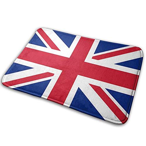 Felpudo de bienvenida con la bandera de Reino Unido y bandera de Reino Unido, para interiores y exteriores, alfombra de entrada para el suelo, raspador de zapatos, 39,7 x 59,7 cm