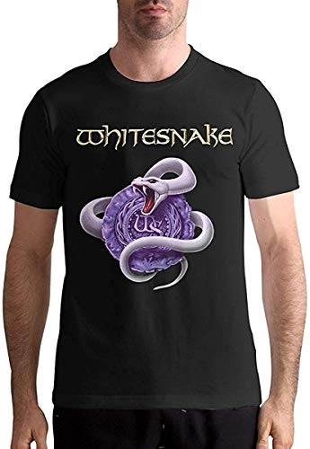 Whitesnake Herren-T-Shirt, kurzärmelig, Schwarz Gr. XL, Schwarz