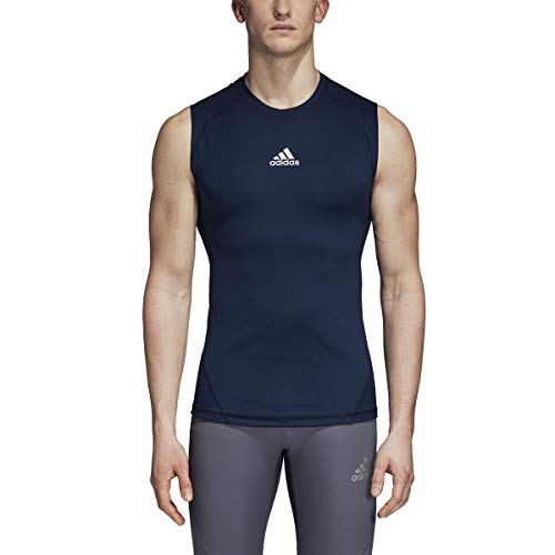 adidas Alphaskin 843T 4XL Camisa de compresión sin mangas para hombre, color azul marino