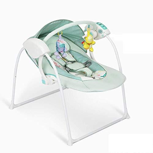 Yingeryaoyi Baby-schommelstoel, elektrisch, voor wiegen, multifunctioneel, comfortabele klapstoel, intelligente afstandsbediening, instelbaar, Dual Power Cradle Bed stoel baby schommelstoel