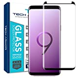 Tech Armor 3D Curved HD Clear Ballistic Glass Screen Protector for Samsung Galaxy S9 Plus, CASE-Friendly, (Black) [1-Pack]