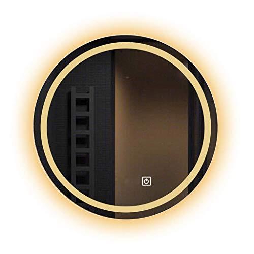 Household Necessities/LED spiegel rond wastafel spiegel badkamerspiegel Smart Touch badkamerspiegel met verlichte spiegel 60*60*3CM Metaal