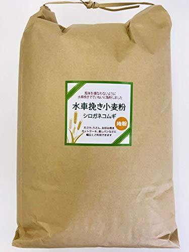 【減農薬・風味豊かな熊本産小麦粉】R2年産『水車挽き小麦粉』・中力粉5kg