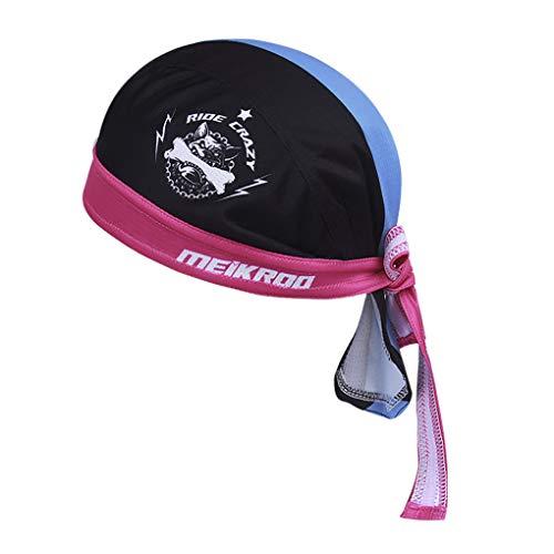 JIAHG - Bandana Deportiva para Hombre y Mujer, para Correr, Ciclismo, Secado rápido, protección UV, Gorro Pirata, Azul y Negro