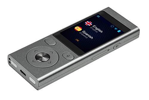Mini 2: Traductor de voz - Admite 50 idiomas, conversaciones bidireccionales - Tarjeta SIM incluida con Internet Gratis de por vida- Diseño fácil de usar, micrófono con cancelación de ruido