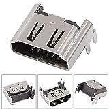 Yanmis Conector HDMI, 5 uds, Adaptador de Interfaz de Puerto Hembra HDMI de Alta definición, aleación de Aluminio Ligera para Placa Base PS4