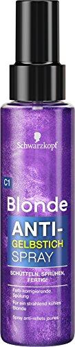 Schwarzkopf Blonde Aufheller C1 Anti-Gelbstich Spray, Stufe 3, 3er Pack (3 x 100 ml)