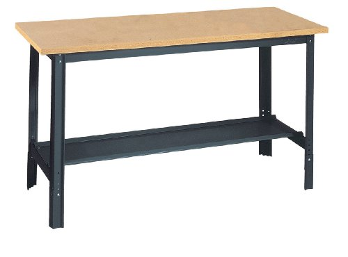 "Edsal UB800 Industrial Gray Heavy Gauge Steel Economy Work Bench with 1"" Particle Board Shelf, 29"" Height x 72"" Width x 30"" Depth"