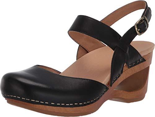 Dansko Women's Taci Black Wedge Comfort Sandals 5.5-6 M US