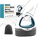 HTVRONT Heat Press Small Heat Press Machine for T Shirts, Small Heat Press Iron Press for Heating Transfer(Dark Green)