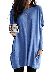 Item Type: fall tops/fall blouses/ oversized tunic/ long tunic tops/ long shirts/ oversized tops/ladies tunic tops/fall tunic/ maternity tops/ maternity blouses/fall shirts/ladies blouses Fall long sleeve pullover tunic tops made of soft mateial,over...