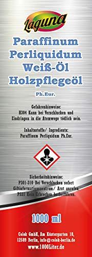 1L 1000ml Paraffinöl, Weissöl med. Qualität, paraffinum perliquidum