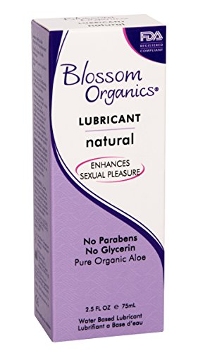 Blossom Organics Natural Moisturizing Lubricant, 2.5 Ounce (Pack of 6)