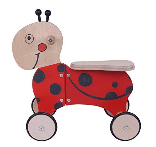 KidsBo Porteur sur roulettes en Bois Coccinelle Funny