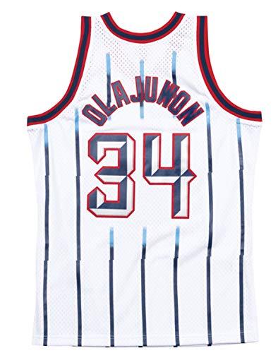 Mitchell & Ness Hakeem Olajuwon Houston Rockets Men's White 1996-97 Swingman Jersey (Large)
