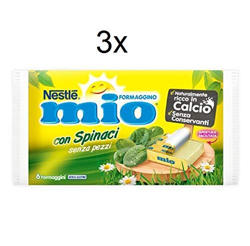 3x Nestlè Formaggino Mio Spinaci Käse mit Spinat Frischkäse reich Kalzium 125g