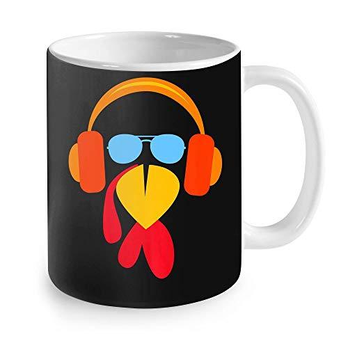 Funny Thanksgiving Gift Ideas – Funny Turkey Face Trot Cool Mens Thanksgiving Running Gift Thanksgivng Coffee Mug 11oz
