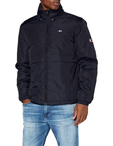 Tommy Jeans TJM Nylon Yoke Jacket Chaqueta, Negro, XL para Hombre
