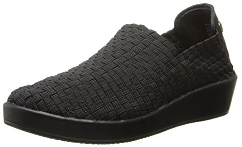 Bernie Mev Women's Smooth Cha Slip-On Loafer, Black, 38 EU/7.5 M US