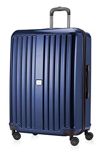 HAUPTSTADTKOFFER X-Berg Maleta Rígida, Tamaño 75 cm, 119 litros, TSA, Color Azul Oscuro Brillante