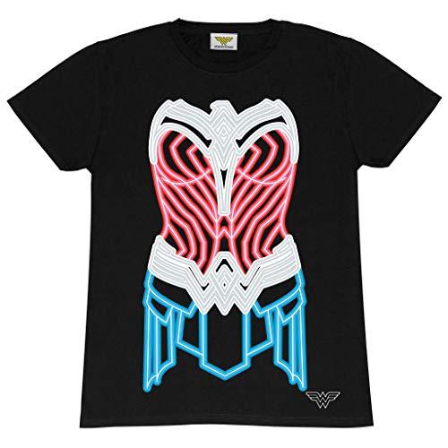 DC Comics Wonder Woman 1984 Movie Neon Armour T-shirt, S to 5XL