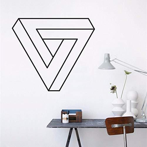 Lamubh Triángulo geométrico Etiqueta de la Pared Forma geométrica Vinilo Mural habitación Etiqueta de la Pared 57x65 cm