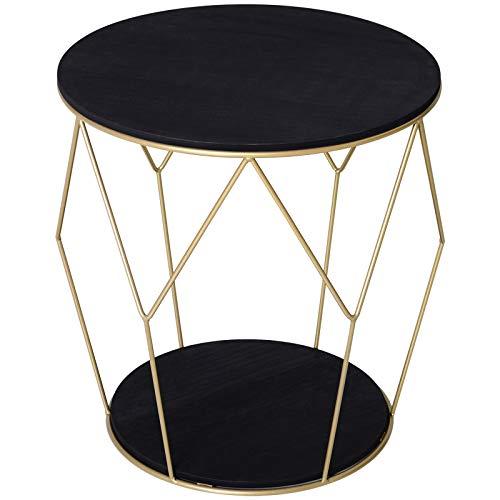 homcom Tavolino Contenitore da Salotto dal Design Geometrico...