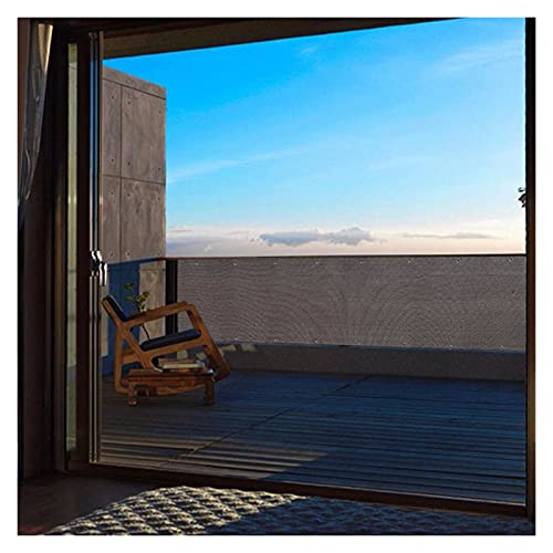 Pantalla de valla de privacidad del balcón, cubierta de la cerca de la cubierta del paño de la malla con los ojales de aluminio Netificación de privacidad para el patio trasero del porche, 71 Tamaño