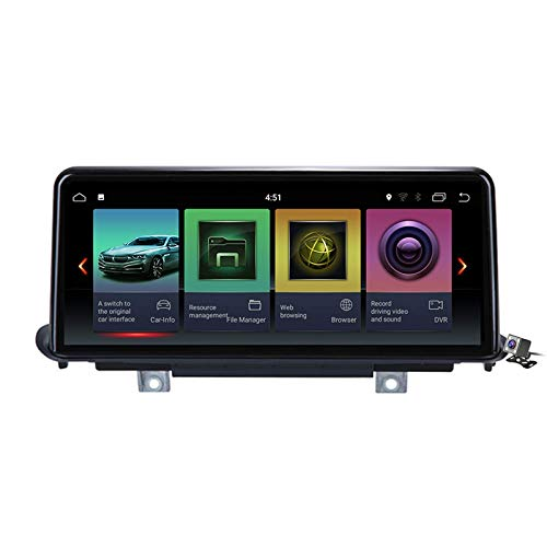 Car Stereo Sat Android 10.0 Radio 2 DIN Head Unit para BMW X5 F15 X6 2014-2017 Navegación GPS Reproductor Multimedia MP5 de 10.25 Pulgadas Receptor de Video con 4G WiFi DSP Carplay