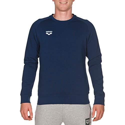 ARENA Herren-Sweatshirt mit Rundhalsausschnitt, Unisex-Erwachsene Herren, Hemd, Official USA Swimming National Team Men's Crew Neck Sweatshirt, Navy, Small