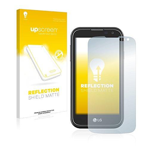 upscreen Entspiegelungs-Schutzfolie kompatibel mit LG K3 2017 – Anti-Reflex Bildschirmschutz-Folie Matt