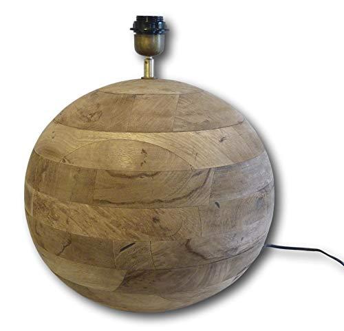 Tafellamp vloerlamp staande lamp bolvorm mango hout bruin design lamp