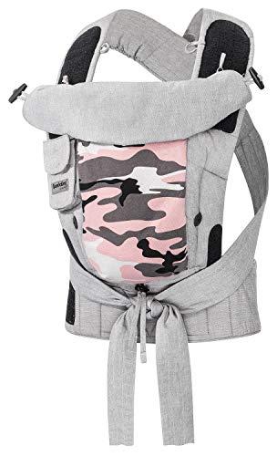 Bondolino Plus Babytrage inklusive Bindeanleitung, Slim-fit Camouflage pink