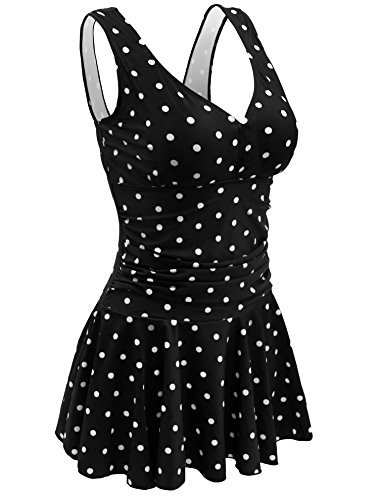 Tankini Polka Dot Shaping Body One Piece Torrid Swimwear 2X Womens Swimsuits Female Swimming