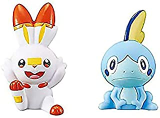 Pokémon GO Kids Get Daze 2PC Starter Scorbunny, Sobble Pocket Monster Finger Puppet Figure