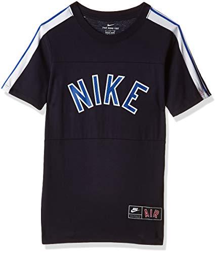 NIKE B NSW tee Air S+ Camiseta, Niños, Obsidian/Game Royal