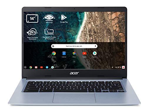 Acer Chromebook 314 CB314-1H - Ordenador Portátil 14' HD, Laptop (Intel Celeron N4020, 4GB RAM, 64GB eMMc, Intel UHD Graphics, Chrome OS), PC Portátil Color Plata - Teclado Qwerty Español