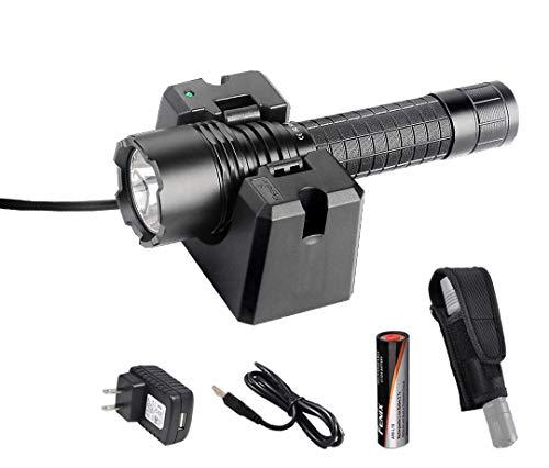 Premium Bundle- Fenix RC20 1000 Lumens Rechargeable Cree XM-L2 U2 Tactical LED Flashlight with USB Charging Cradle, LumenTac Heavy Duty Holster