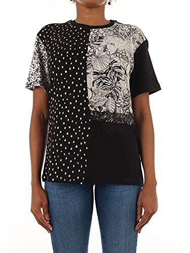 Desigual TS_Loris Camiseta, Negro, L para Mujer
