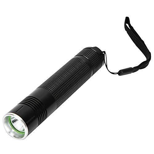 LED Aluminium UV Stylo Torche Flash Light Fluorescence De Poche Mini Détection D'argent Lampe Rayonnement Ultraviolet UV LED lampes de Poche 365 nm(Noir)