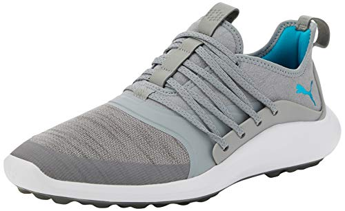 mejores Zapatos de golf para mujer PUMA Ignite NXT SOLELACE Wmns, Zapatos de Golf para Mujer, Gris (Quarry/Caribbean Sea), 44 EU