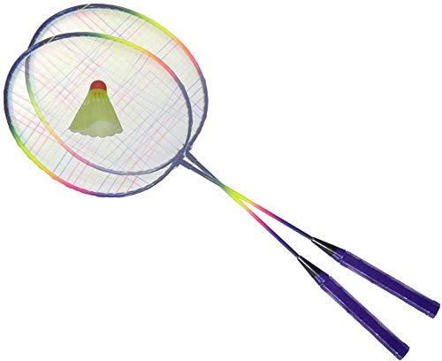 O&W Security Badminton Set Federballspiel Federball 2 Schläger mit Federball ideal für die ganze Familie Urlaub Garten Strand, Gute Qualität