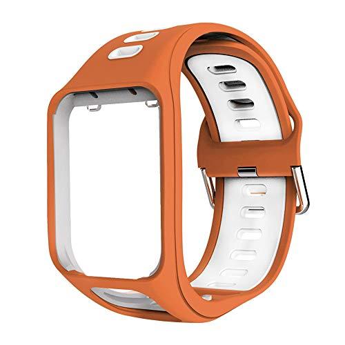 OUSMIN Tomtom Correa para Tomtom Spark 3 Runner 3 Runner 2 Golfer Adventurer Cardio Music GPS Smartwatch, Multisport Correa Reloj Profesional Accesorios Premium Pulsera