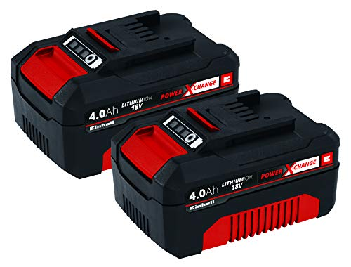Einhell 4511489 PXC-Twinpack 4,0 Ah Batteria, Rosso, Nero