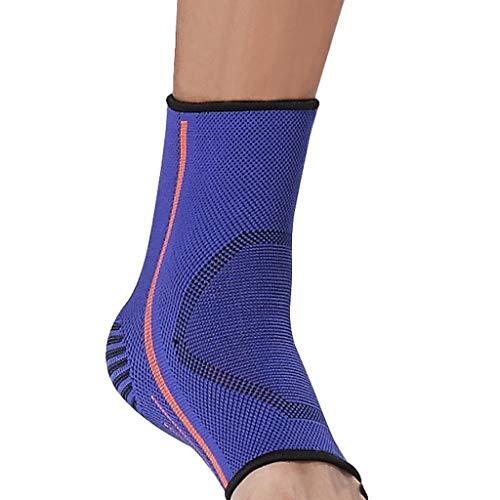 XXT - Tobillera deportiva profesional para esguinces y esguinces de baloncesto, antiestática, tobillo para los pies, protectores de recuperación, 2 unidades, nailon, azul, 24-25cm