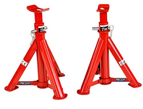 Pro-Lift-Werkzeuge Unterstellbock 2 x 2t Set Abstellböcke Wagenheber Abstützbock Höhe 277 mm - 365 mm KFZ PKW